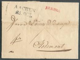 LAC De FRANKFORT Le 30 Septembre 1825/5 Octobre 1823 (concernant Jean Jacque KLOTZ Société KLOTZ & WECKLER), Via (griffe - Vorphilatelie