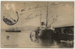 MEXIQUE Manzanillo Col. Mex, Datée 1912 - Schiffe