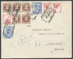 Lettre Recommandée De BARCELONA Le 25-6-1946 Vers Anvers.  TB  - 10075 - 1931-Aujourd'hui: II. République - ....Juan Carlos I