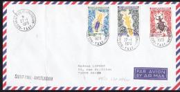 TAAF - Sur Lettre N° 49 à 51 Oblitéré - Cachet Iles Saint Paul Amsterdam - Prix De Départ 15 Euros - Lettres & Documents