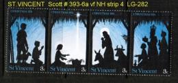 ST.VINCENT   Scott  # 393-6a**  VF MINT NH STRIP Of 4 - St.Vincent (...-1979)