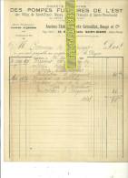 52 - Haute-marne - ST-DIZIER - Facture POMPES FUNEBRES DE L'EST – 1923 - REF 70 - 1900 – 1949