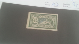 LOT 214963 TIMBRE DE FRANCE NEUF* N�143 VALEUR 35 EUROS