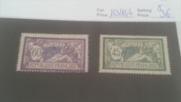 LOT 214964 TIMBRE DE FRANCE NEUF* N�143/144 VALEUR 36 EUROS