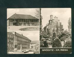 Gröditz Kr. Riesa ( Multivues Filmtheater Polytechnische Oberschule Blick Zum Rathaus) - Riesa