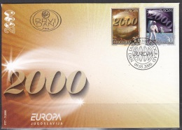 Europa Cept  2000 Yugoslavia 2v  FDC (F109) - 2000