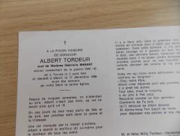 Doodsprentje Albert Tordeur Veurne 2/8/1914 Menen 17/12/1988 ( Gabrielle Marant ) - Religion & Esotericism