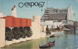 AK Montreal Expo 67 1967 Exposition Tour De Gondole Sur L´ Ile Notre Dame Pavillon Monaco Haiti France Kanada Canada - Montreal