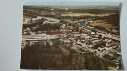 77 LONGUEVILLE VUE GENERALE AERIENNE TIMBREE 1970 VOIR SCANS TROU DE PUNAISE - Frankrijk