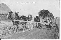 France 1914-1915 Attelage De Chevaux Paysan Avec Son Chien Et Soldat Allemand En Vélo 1 Carte Postale 14-18 Ww1 WwI Wk - Professions