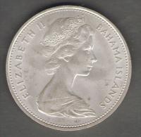 BAHAMA ISLANDS 2 DOLLARS 1966 SILVER AG - Bahamas