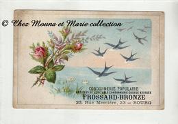 PUBLICITE CORDONNERIE FROSSARD BRONZE BOURG HIRONDELLES - Publicités