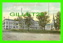 BROCKVILLE, ONTARIO - COURT HOUSE SQUARE - TRAVEL IN 1910 - SOUVENIR MAILING CARD - - Brockville