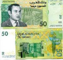 Morocco 50 Dirhams 2002 Pick 69 UNC