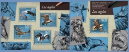 ca14214ab Central African 2014 birds Eagles  2 s/s