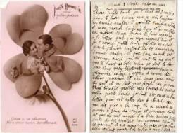 Porte Bonheur Pour Notre Amour - Trefle A 4 Feuilles  - Couple (Soldat)   (70031) - Patriotiques