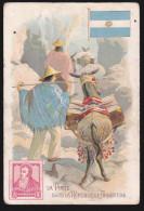 Carte Ancienne Format 10,5cmx7cm - (Argentine) La Poste Dans La République Argentine