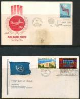 FDC UNO 1972 (STAINED) - New-York - Siège De L'ONU