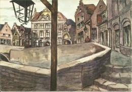 """EXPOSITION UNIVERSELLE DE BRUXELLES 1958. BELGIQUE JOYEUSE """"Place Du Bon Acceuil""""........(voir Scan Verso) - Universal Exhibitions"""