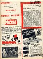 Publicite ( Journal Mickey) Voiture Jouef Banania - Publicités