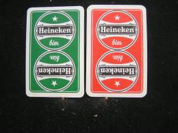 Playing Cards / Carte A Jouer / 2 Dos De Cartes De La Brasserie - Brouwerij - Heineken .- - Ohne Zuordnung