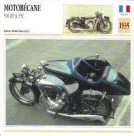 Motobécane 500cc R5 & S5C  -  1935  -  Fiche Technique Moto (Side-car/Attelée) - Autres