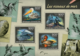 CENTRAL AFRICA 2014 - Seabirds. Official Issue - Pelikanen