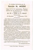 Waregem ( 't Gaverke) : Eerste H.Missie ... , 1944, 2 Scans - Oude Documenten