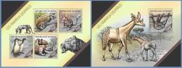 nig14206ab Niger 2014 Extinct animals 2 s/s
