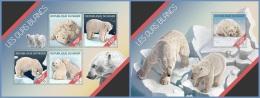 nig14209ab Niger 2014 Polar bears 2 s/s