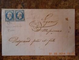 AF_01-lettre De ST Etienne,bureau Auxilliaire 6e Rare - 1849-1876: Période Classique