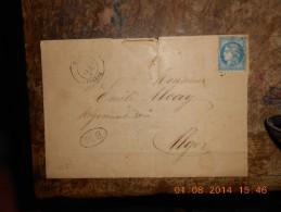 AF_05-lettre De Boghari BM Rare  Avec 45 Ou 46,voir Photos - 1849-1876: Periodo Clásico