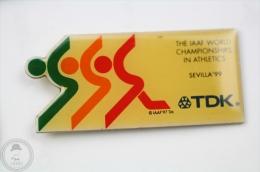 IAAF - International Association Of Athletics Federations - Sevilla ´99 - TDK Advertising - Pin Badge #PLS - Atletismo