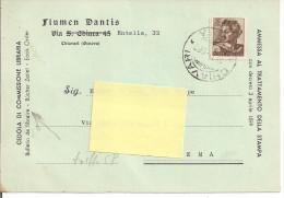 STORIA POSTALE, MICHELANGIOLESCA L.25, IN TARIFFA C.P.,1963, SU CEDOLA COMM. LIBRARIA, VECCHIO MODELLO, POSTE  CHIAVARI - 1961-70: Marcophilia