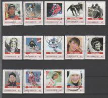 AUSTRIA - Francobolli Personalizzati Sport - SCI Serie Cpl. 14v. Usati Perfetti - Personalisierte Briefmarken