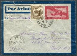 1934 Airmail Cover GIADINH - Saigon - Marseille - Paris - Covers & Documents