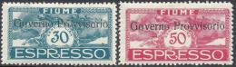 ITALY FIUME 1920 ESPRESSO  PROVVISORIO Nº E5/E6 - 9. Besetzung 2. WK (Italien)