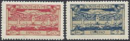 ITALY FIUME 1923 ESPRESSO  PROVVISORIO Nº E7/E8 - 9. Besetzung 2. WK (Italien)