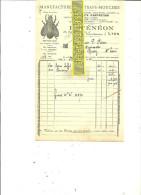 69 - Rhône - LYON - Facture FENEON - Manufacture D'attrape-mouches – 1921 - REF 71 - France