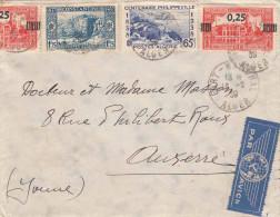 ALGERIEN 1939 - 4 Fach Frankierung Auf LP-Brief Von Constantine > Frankreich - Algerien (1924-1962)