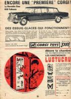 Page Mickey Publicité Pate Lustucru Voiture Jouef - Advertising