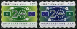 MACAU 2013 - 20e Ann Du Traité Pour Le Commerce Et Coopération Avec L´Union Européenne - 2 Val Neufs // Mnh Set - 1999-... Chinese Admnistrative Region