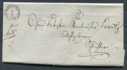 1846 Kurfurstl. Justizamt NEUHOF An Rentmeister Schluchtern - Germany