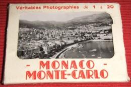 ALBUM AVEC  17 VERITABLES PHOTOGRAPHIES DE MONACO - MONTECARLO - Monte-Carlo