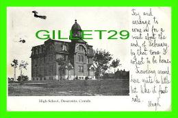 DESERONTO, ONTARIO -HIGH SCHOOL - TRAVEL IN 1907 - 3/4 BACK - - Ontario