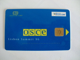 Phonecard/ Telécarte OSCE Lisbon Summit 96 - 120 Impulsos Portugal Tirage 3000 Ex. - Portugal