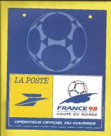 FOOTBALL  AFFICHETTE En Plastique Rigide Annonçant ( En 1994)  La Coupe Du Monde De FOOTBALL 1998  Voir Scanners - Other
