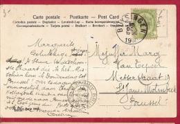 BR-6646   Fantasiekaart    Vertrekstempel   BUYSINGEN  Aankomsstempel  BRUXELLES ARRIVEE - 1893-1907 Wappen