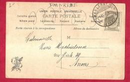 BR-6648   Fantasiekaart    Vertrekstempel   BRUGSTEMPEL   CHARLEROY SUD DEPART - 1893-1907 Wappen