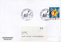 Lote F-Fr103, Francia, 1999, FDC, Sobre, Cover, Navidad, Christmas - FDC